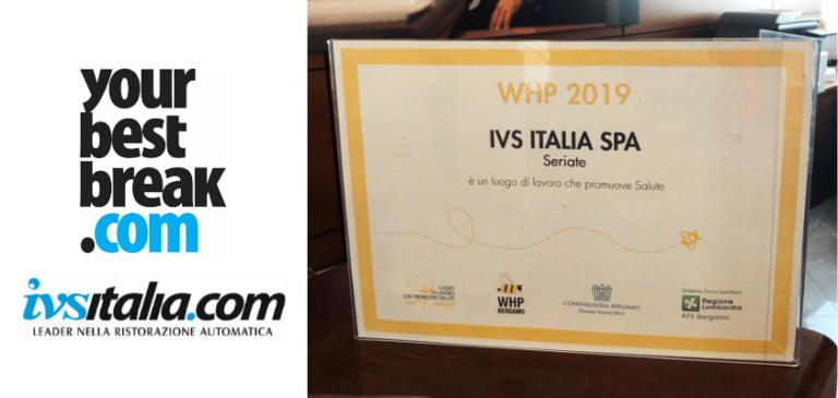Anche nel 2019 IVS Italia riceve l'attestato di WHP
